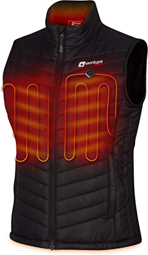 Venture Heat Women's Heated Vest with Battery Pack - Insulated Electric Jacket, Puffer Vest, Roam 2.0