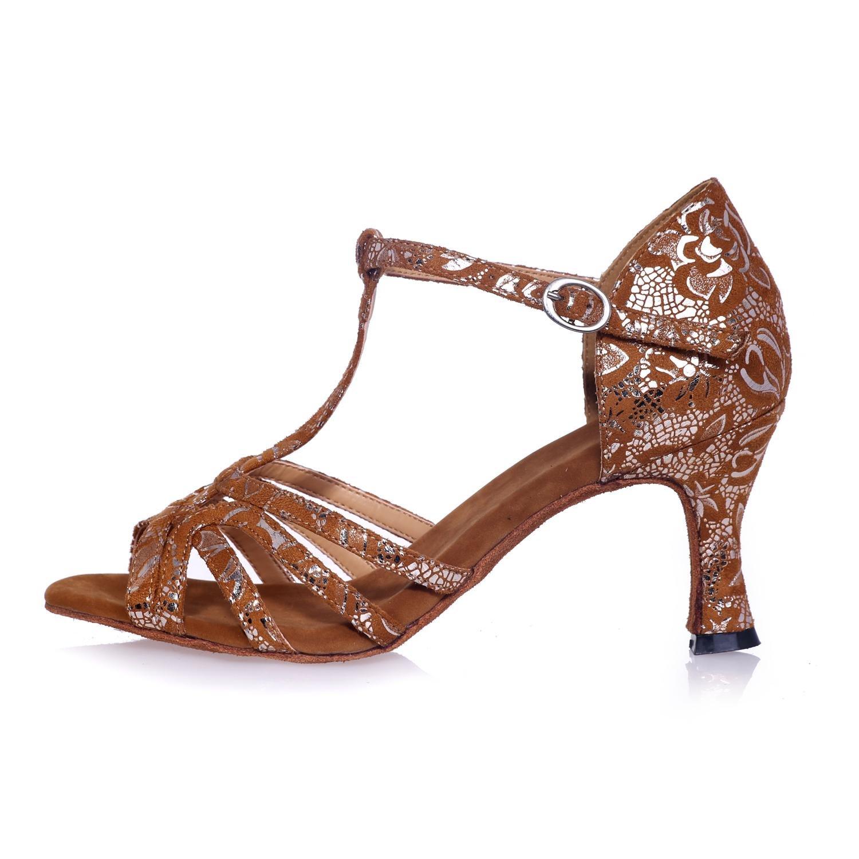 L@YC Frauen Latein Tanzschuhe Seide Innen Riemen Thin Heels Heels Heels High Heels Schwarz Gold Braun B076MXN21P Tanzschuhe Won hoch geschätzt und weithin Grünraut im in- und Ausland Grünraut f29eaa
