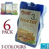 6 Non-Toxic Freezer Blocks - In 3 Colors