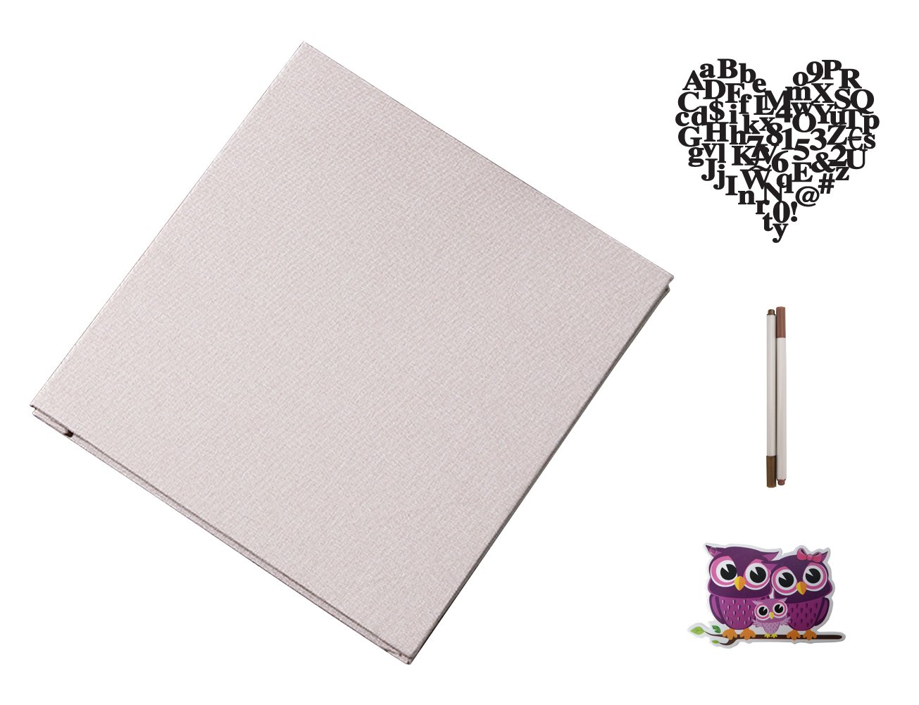 IDULL Expandable Linen Photo Album with White Magnetic Pages 8.5x11 (Beige) by IDULL