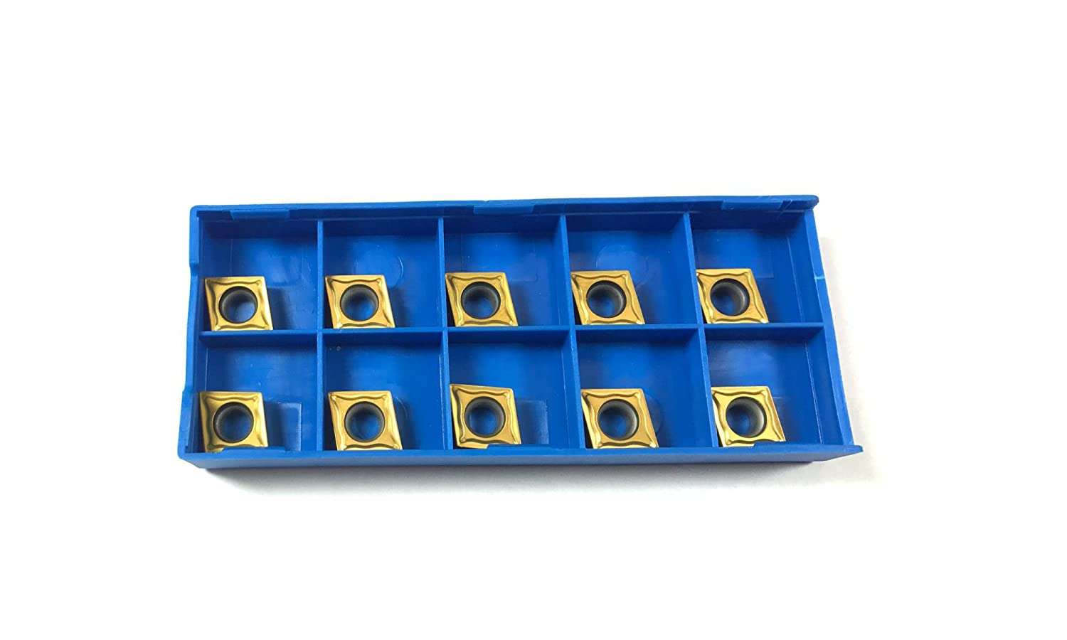 Indexable Carbide Turning Inserts CCMT 060204 TiN Coated for Steel and Stainless Steel