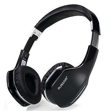 AUSDOM M07 Auriculares para la oreja, Bluetooth inalámbrico Air-Fi Rumble Deep Bass,
