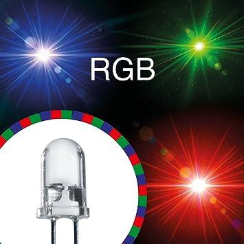 20x LED 5mm RGB + 12V Rot Grün Blau LEDs: Amazon.de: Elektronik