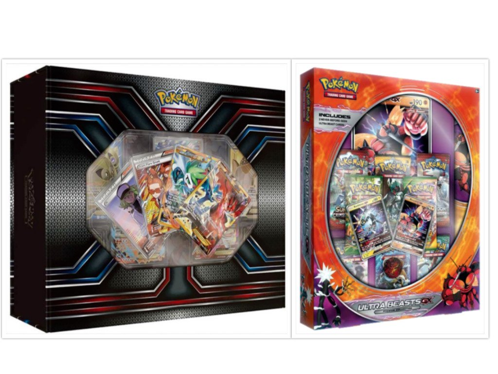 Pokemon TCG The Best of XY Premium Trainer Collection Box and Ultra Beasts Buzzwole GX Premium Collection Box Card Game Bundle, 1 of Each