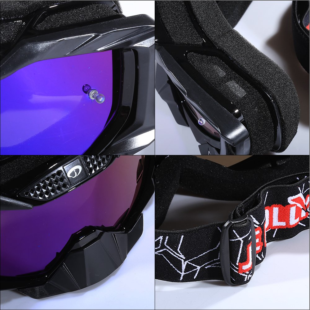 ATV Dirt Pit Scooter Motorcycle Helmet Goggles Tear Off Lens for Adlut Women Men JIEPOLLY Motocross Goggles
