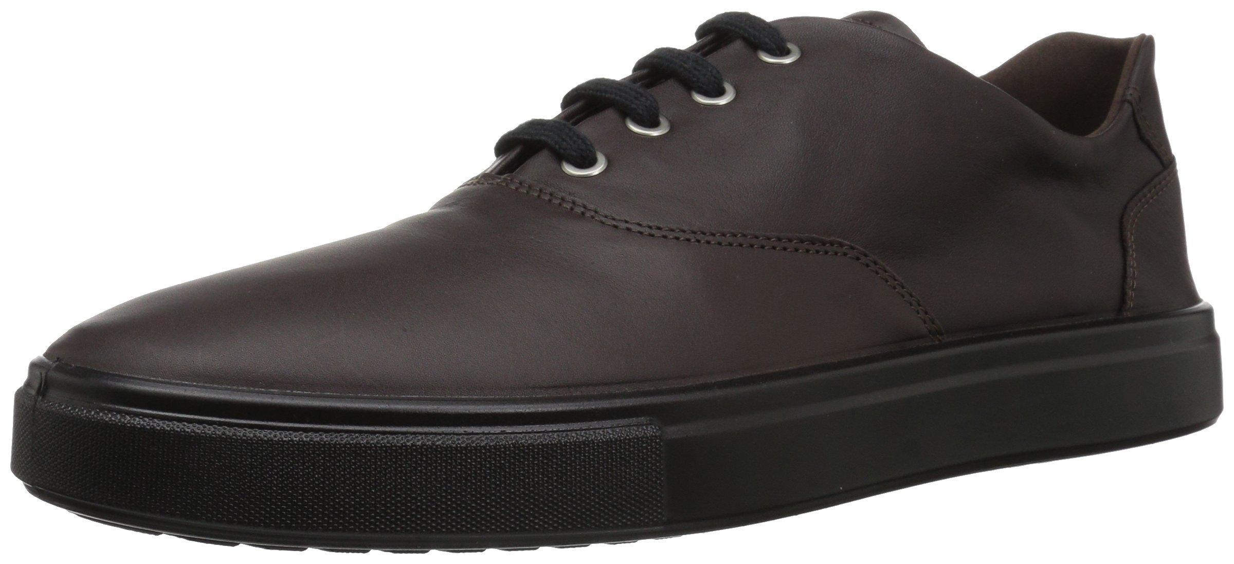 ECCO Men's Kyle Tie Sneaker, Coffee, 44 M EU (10-10.5 US)