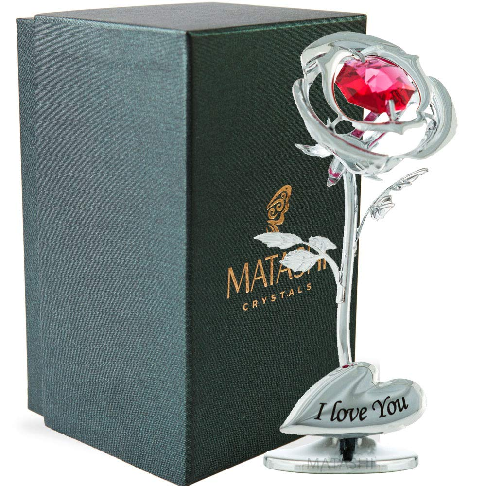 Amazon Com Matashi Single 24k Gold Plated Rose Flower Tabletop
