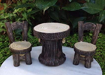 amazon com miniature dollhouse fairy garden furniture resin wood rh amazon com  arts and crafts style outdoor furniture
