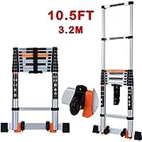 Energy Bear 10.5-Foot Aluminum Telescoping Extension Ladder