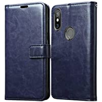 Goelectro Redmi Note 7 / Note7 Leather Dairy Flip Case Stand with Magnetic Closure & Card Holder Cover (Blue)