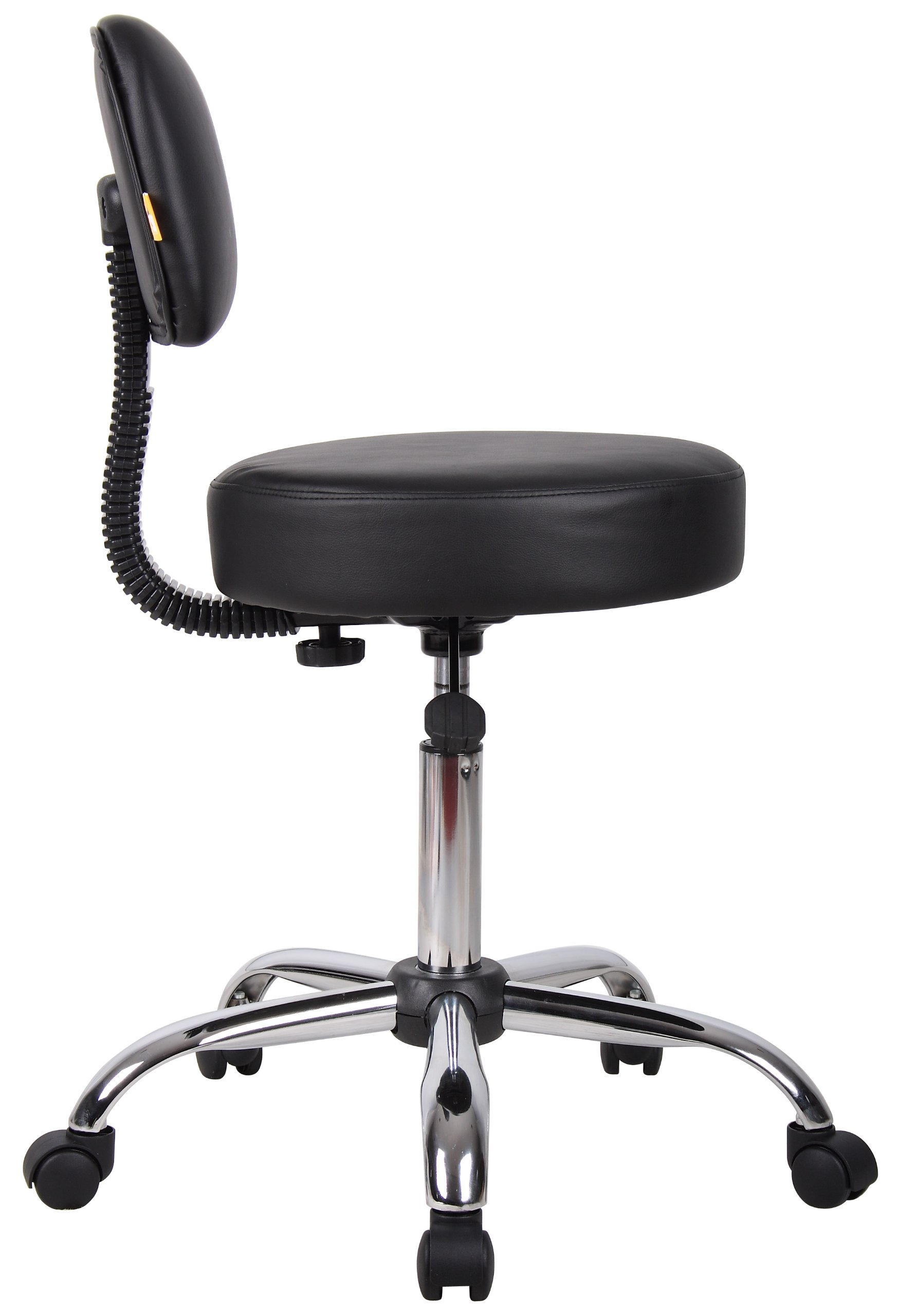 Boss Office Products B245-BK Be Well Medical Spa Stool with Back in Black by Boss Office Products (Image #5)