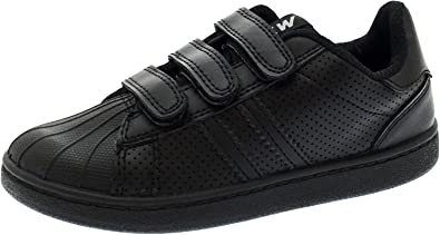New Smart Start Boys School Real Leather Black Shoes Size 2 UK// 34 EUR
