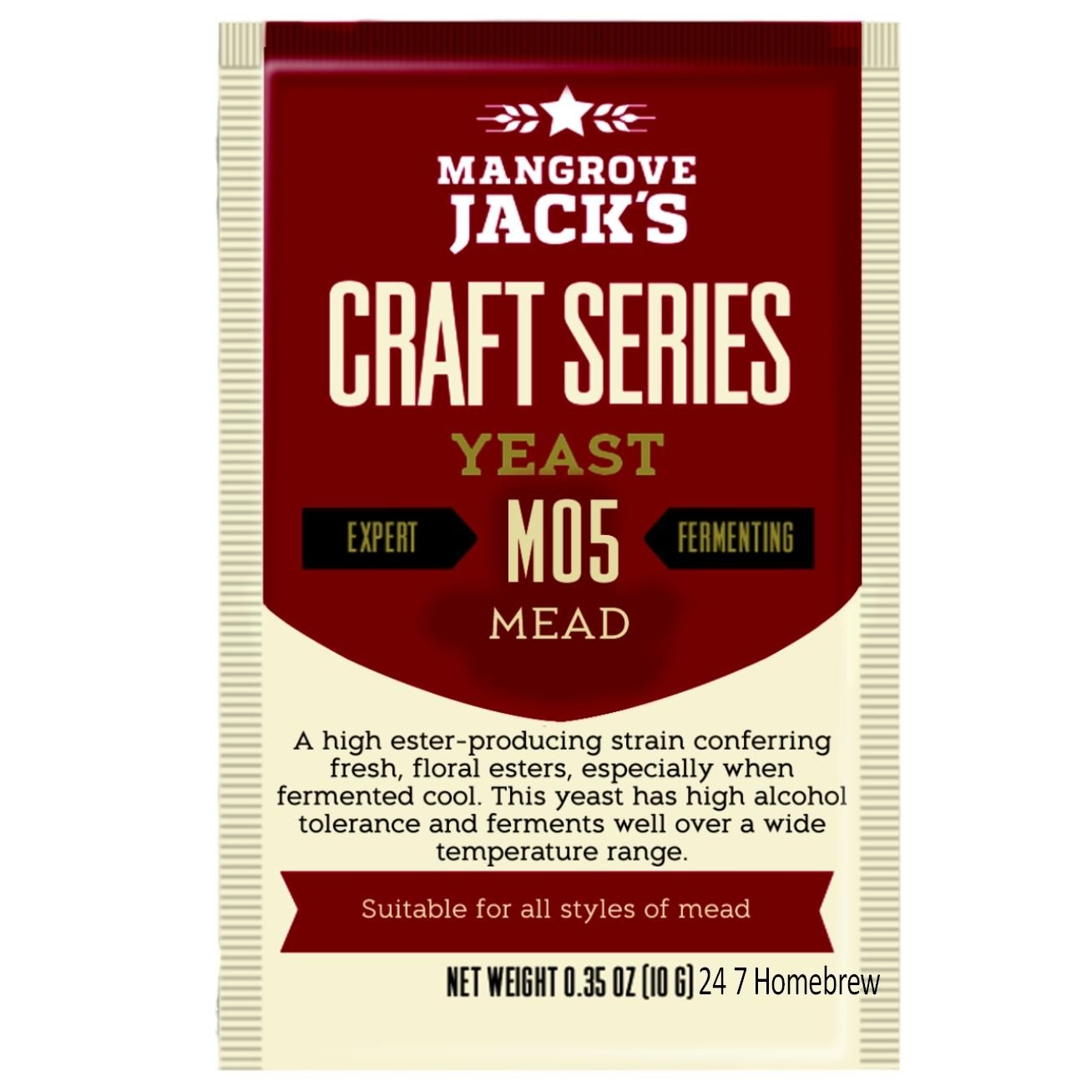 Mangrove Jack's Craft Series Mead Yeast M05 (10g) by Mangrove Jack mangovesjack