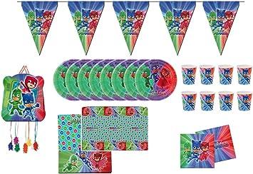 PJ Masks 0761, Pack Fiesta y cumpleaños 1 piñata 1 banderin ...