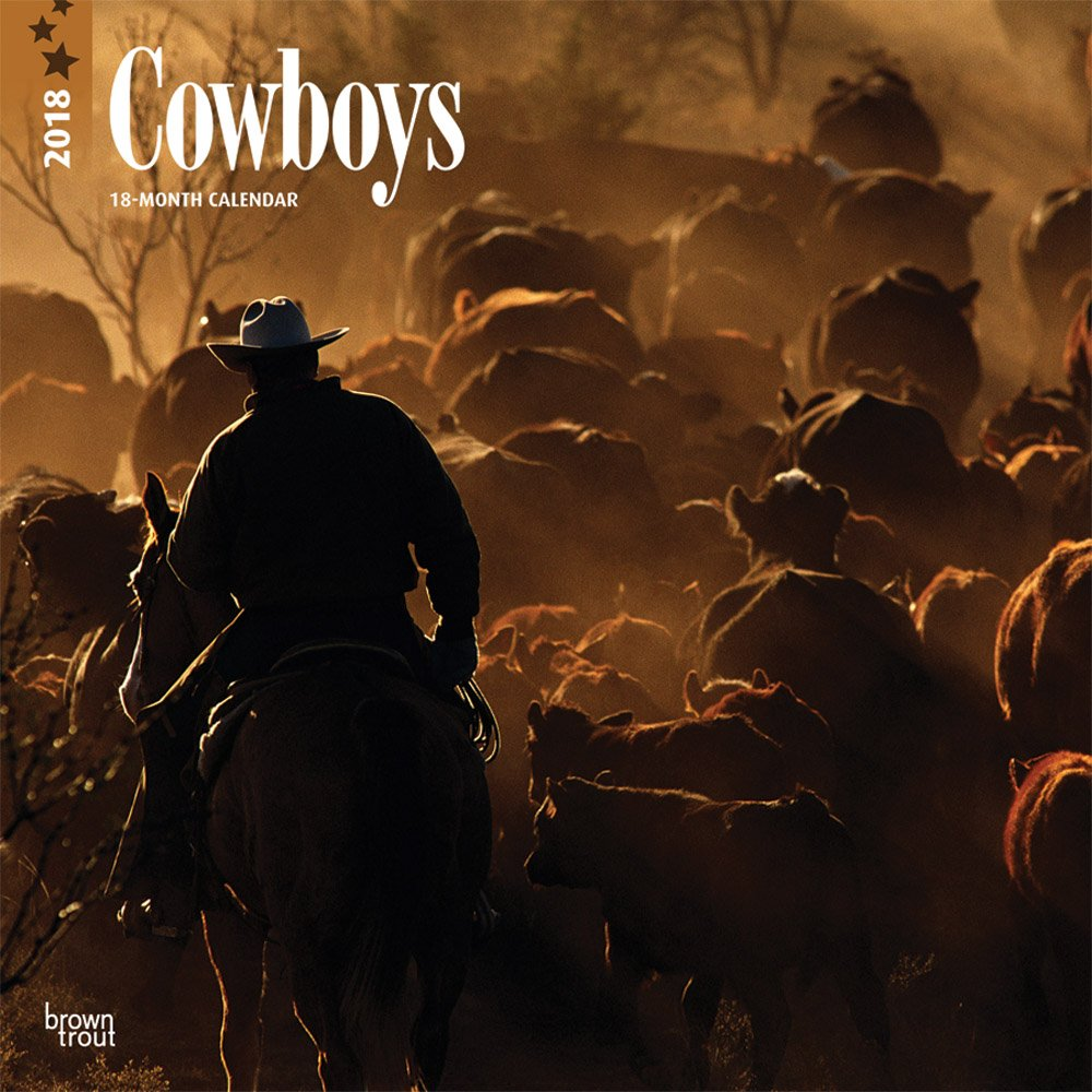 Download Cowboys 2018 12 x 12 Inch Monthly Square Wall Calendar, USA United States of America Rural Country ebook