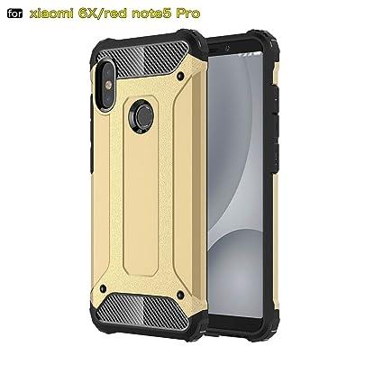xinyunew Funda Xiaomi Redmi Note 5 Pro, 360 Grados Protección +Vidrio Templado Protector Pantalla Silicona Caso Cover Case Carcasas TPU + plastico ...