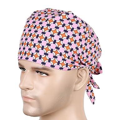 052c09a6064 Nothar Unisex Cotton Surgical Scrub Hat Chef Nurse Vet Dr Cap   Amazon.co.uk  Clothing
