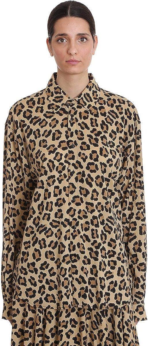 LOtre Chose - Camisa de hombre de viscosa con impresión animal, mod. OK520627 Nero/Beige 36: Amazon.es: Ropa y accesorios