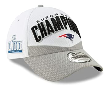 New Era NFL NEW ENGLAND PATRIOTS Super Bowl 2019 Locker Room 9FORTY Championship Cap: Amazon.es: Deportes y aire libre