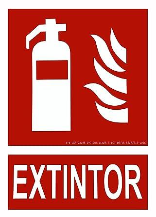 CIEFU-Cartel de extintor Señalizacion fotoluminiscente (295 ...