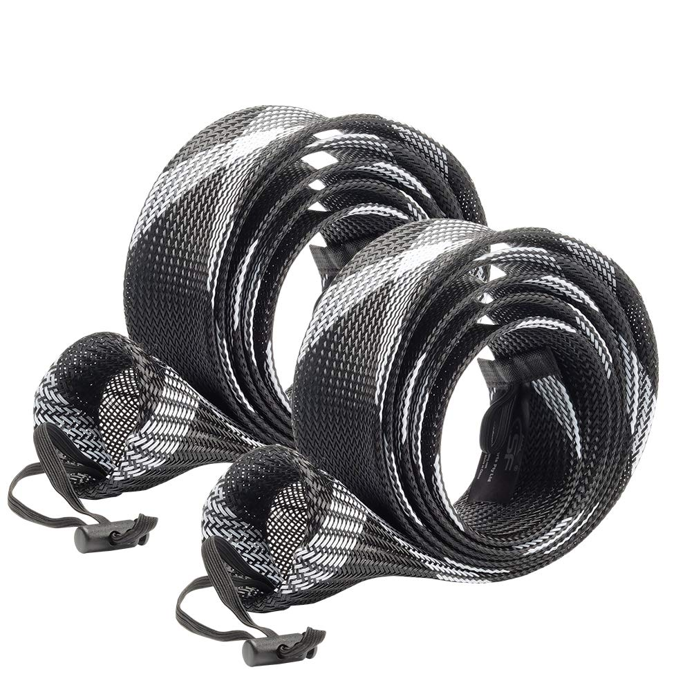 SF Standard Spinning Rod Sock Fishing Rod Sleeve Rod Cover Braided Mesh Rod Protector Pole Gloves Fishing Tools for Spinning Fishing Rod