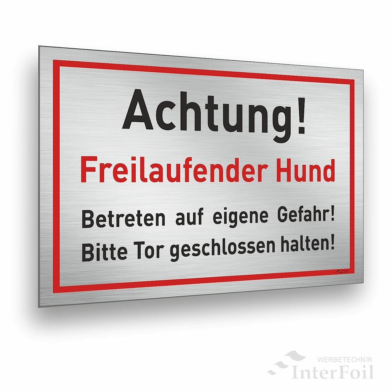 Advertencia Motivo de perro de cartel. Entrar en alemán. por ...