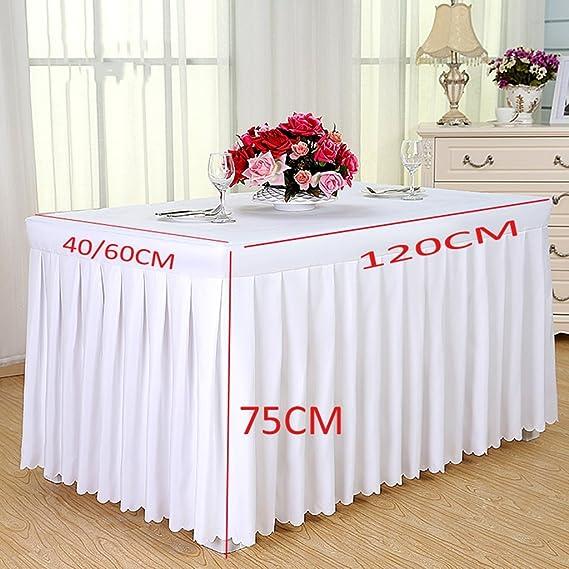 L&Y Manteles Manteles del Hotel Fría Mesa de Comedor Faldas Conferencia manteles rectangulares 120 * 60 * 75 CM Mantel Cubierta de Mesa Antependio Manteleria (Color : Beige): Amazon.es: Hogar