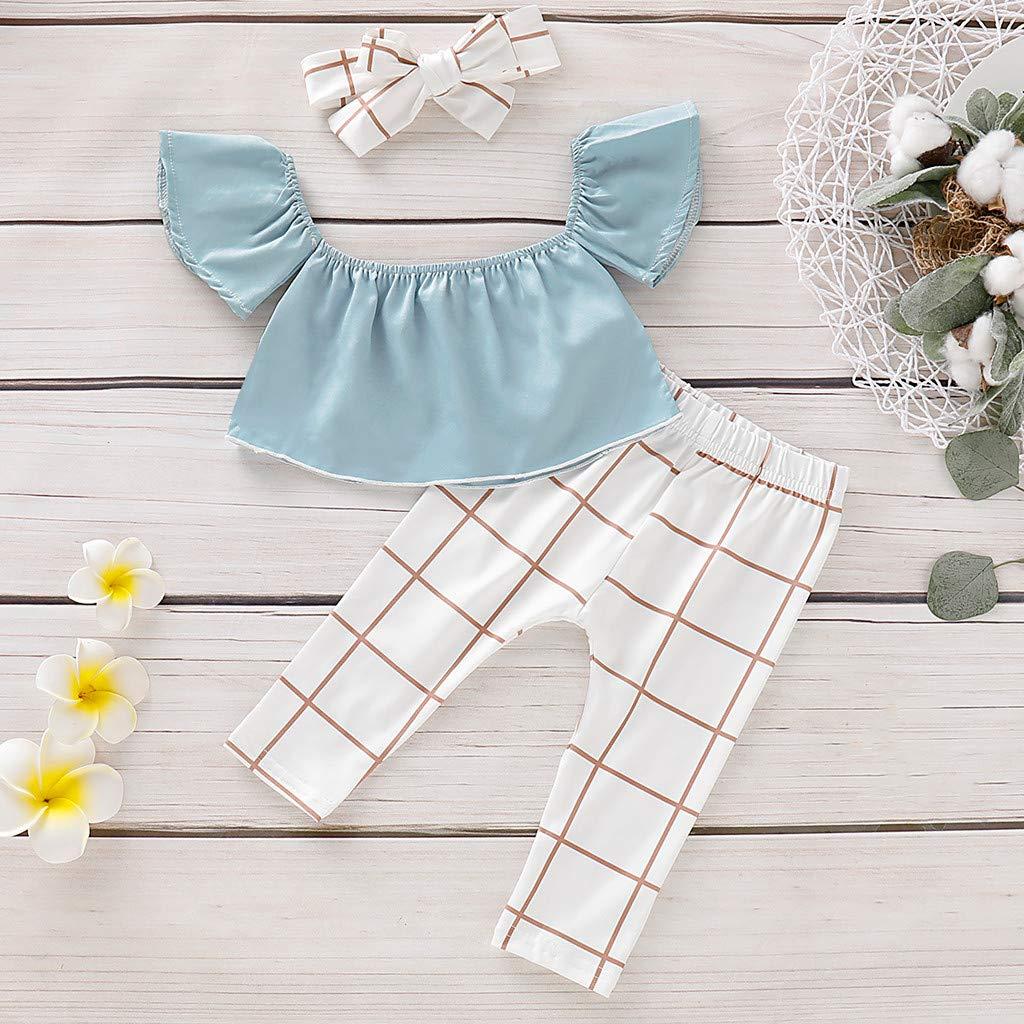 Amazon.com: Juego de ropa de verano para bebés y niñas de 0 ...