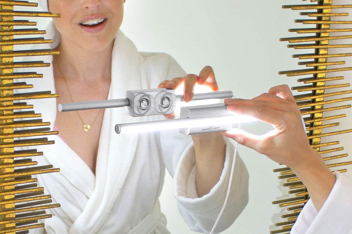 MY BEAUTY LIGHT New Look Basic Ros/égold 6500 Kelvin LED Spiegelleuchte, Schminklicht, Spiegellicht, Make-up Licht, Tageslichtlampe, Original aus Die H/öhle der L/öwen