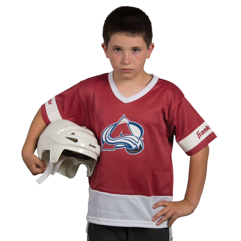 Franklin Sports NHL Colorado Avalanche Youth Team Uniform Set ... 308e4c206