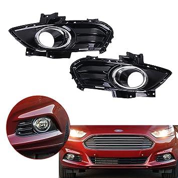 kawayee para Ford Fusion Mondeo 2013 - 2016 parachoques delantero cromado rejilla parrilla luces antiniebla: Amazon.es: Coche y moto