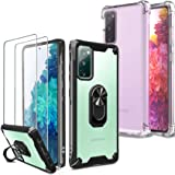 [4 Items] Milomdoi 2 Pcs Case for Samsung Galaxy S20 FE [4G&5G] + 2 Pack Tempered Glass Screen Protector [ Hard Plastic Back&