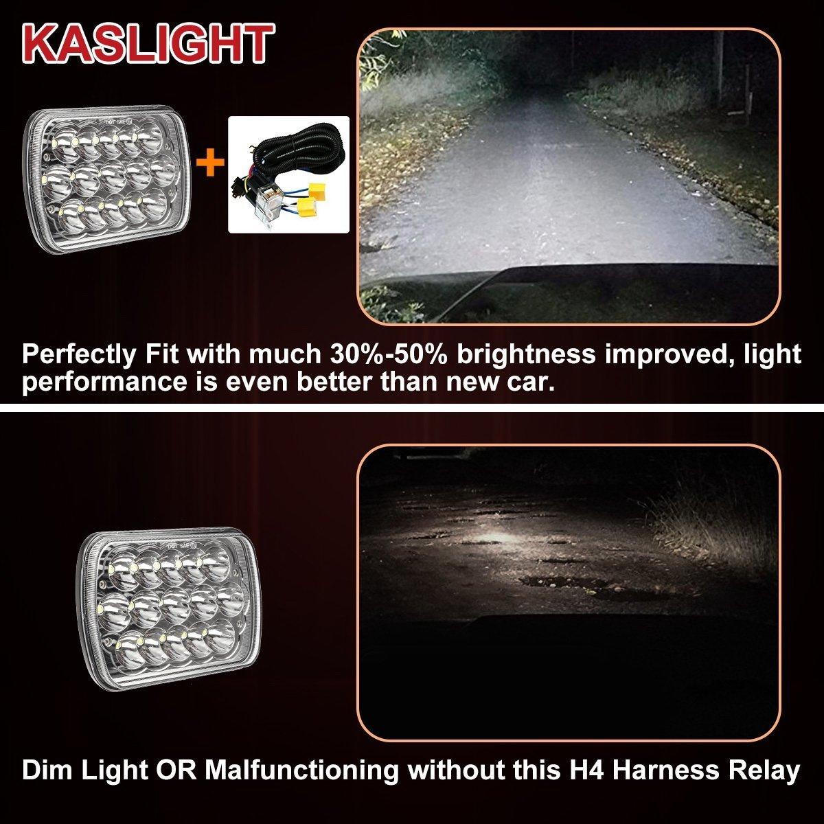 1set 2 Headlight Harness H4 Relay 91 S10 Wiring Diagram Grounding H6054 Toyota Pickup Headlights Kit For