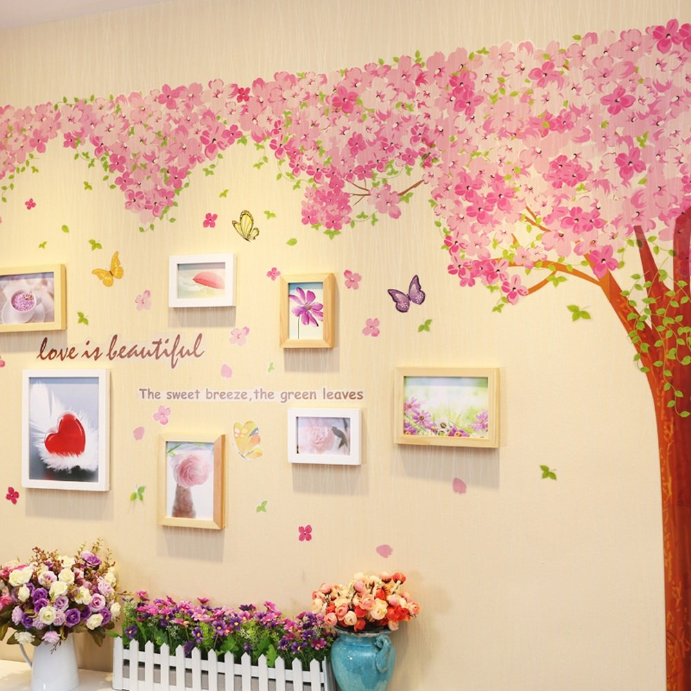 Photo Wall, Warm Photo Wall, Love Picture Frame, Bedroom Wall Hanging Combination Room Decoration Background Wall ( Color : 1# )