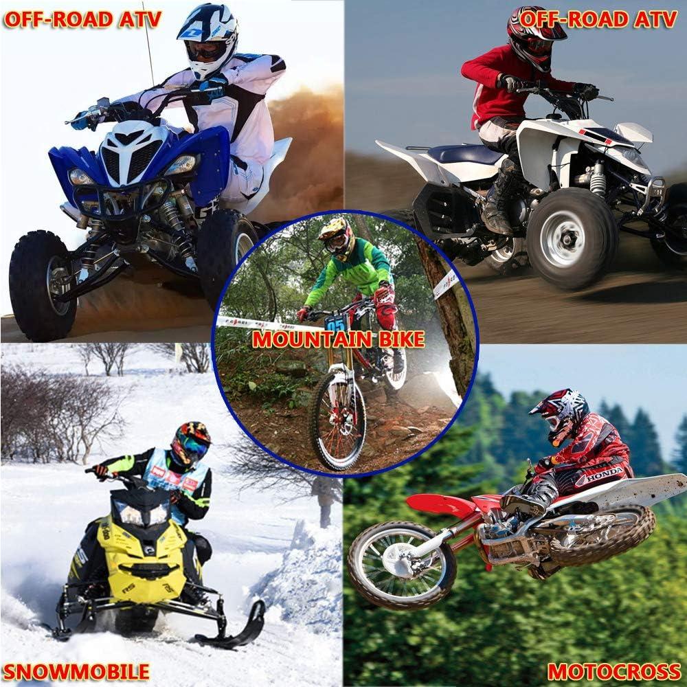 YASE Casco da Motocross Caschi da Moto Enduro Downhill con Guanti Occhiali e Maschera e Auricolare Bluetooth con Mentoniera Staccabile Visiera Rimovibile Casco