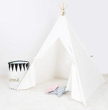 BLITSR Tipi Zelt für Kinder & Babys - Indoor & Outdoor Spielzelt - 120 x  120 x 150 cm - Indianerzelt für Jungen & Mädchen - Kinderzelt mit Fenster -  ...