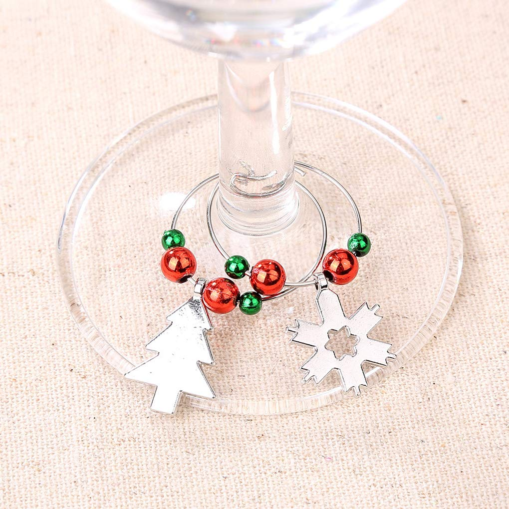 Republe 6pcs Weihnachts Ring Weinglas Dekoration-Partei-Jahr-Cup ...