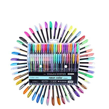 Nuolux 48pcs Color Gel Ink Pens Set Kit De Pluma Del Color De 10 Mm