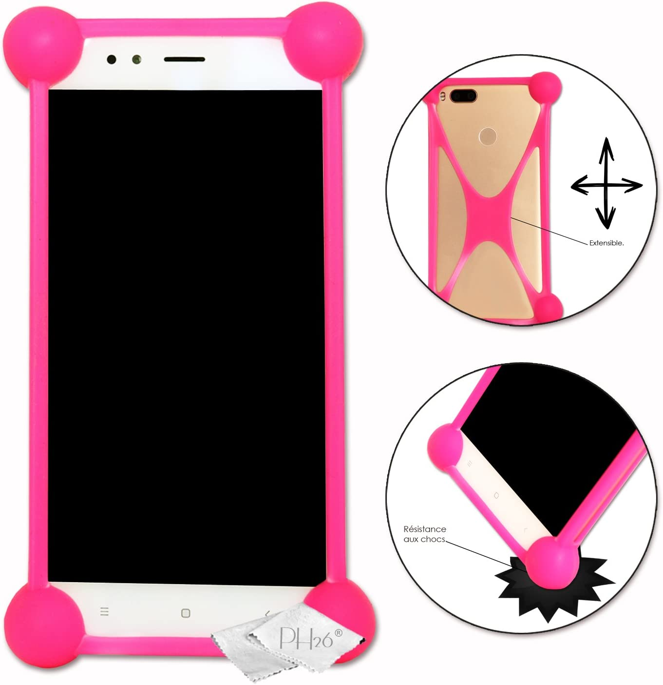 Shockproof Silicone Bumper Case for Acer Liquid Jade Primo PC Pink