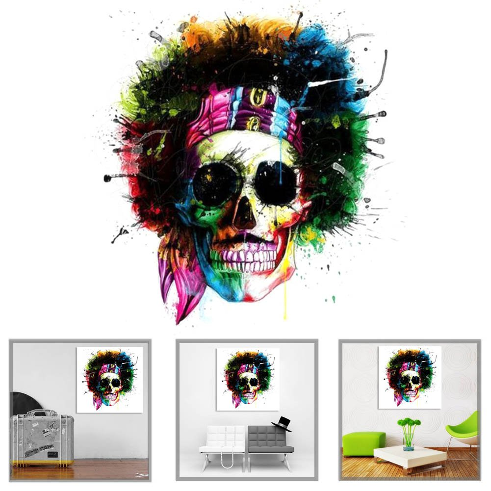 H01 5D Flower Skull Diamond Painting Kit Rhinestone Embroidery Cross Stitch DIY Drill Art Craft Home Wall Decoration