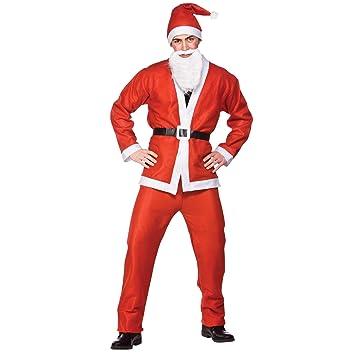Amazon Budget Santa Suit 5pc Adult Costume Plus Size Xmas Fancy
