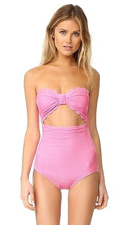 4c13dcc8349 Kate Spade New York Women's Marina Piccola Scalloped Cutout One Piece -  Pink -