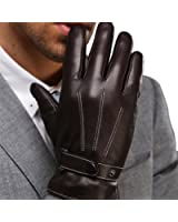 Harrms Best Luxury Touchscreen Italian Nappa Leather Gloves for men's Texting Driving Cashmere Lining
