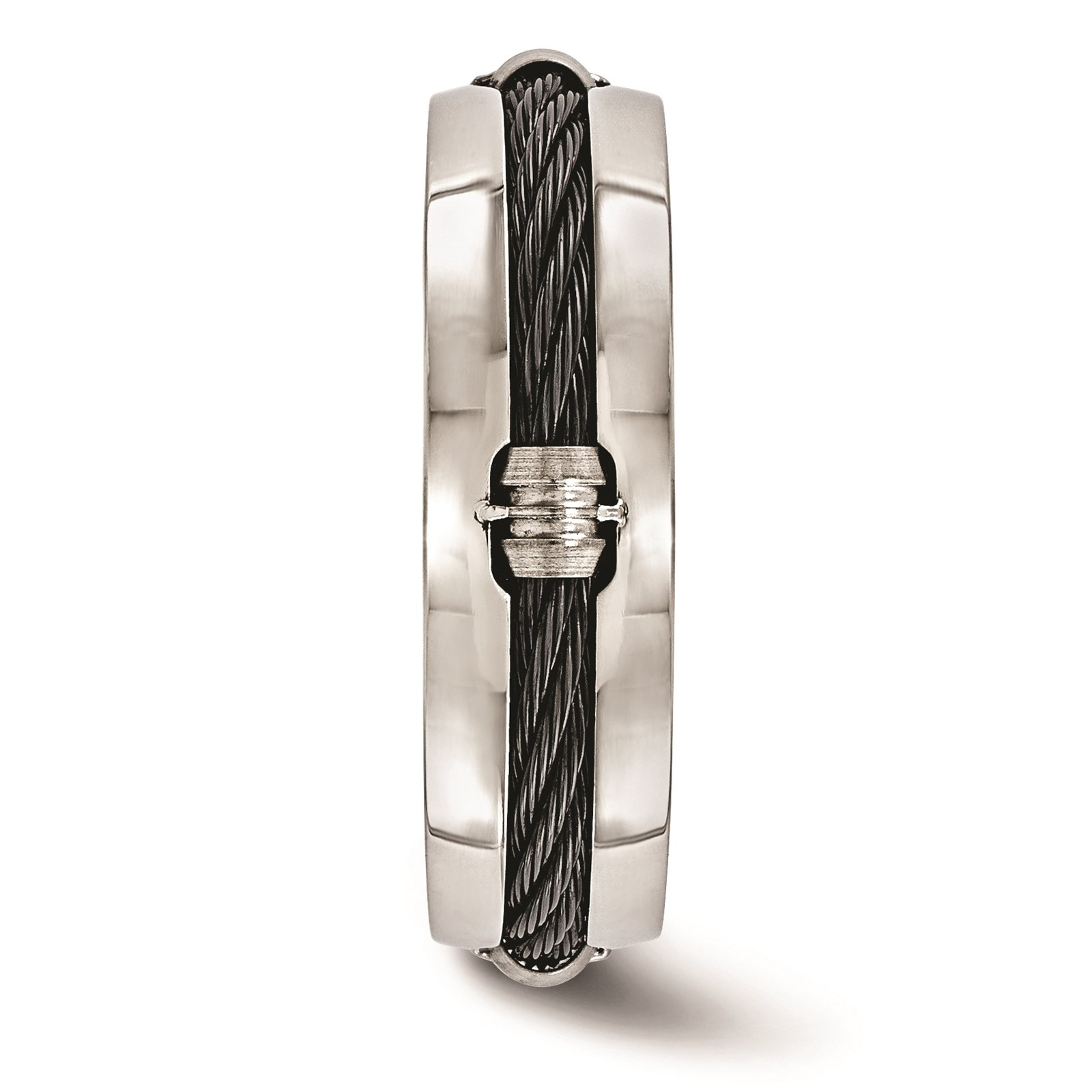 Titanium & Cable Polished 7mm Wedding Ring Band Size 8 by Edward Mirell by Venture Edward Mirell Titanium Bands (Image #3)