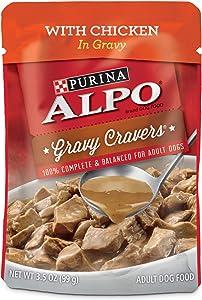 Purina ALPO Gravy Wet Dog Food, Gravy Cravers with Chicken - (24) 3.5 oz. Pouches