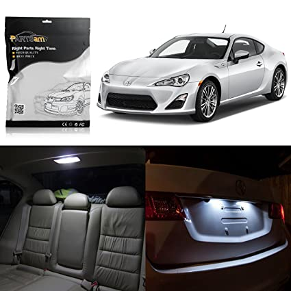 Scion Frs Parts >> Partsam Led Interior Package Light Kits License Plate Light Compatible With Scion Frs 2013 2014 2015 2016 6 Pieces White