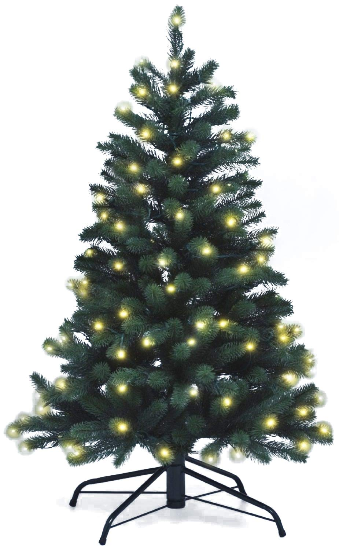 Lönartz® Naturgetreuer künstlicher künstlicher künstlicher Weihnachtsbaum PE-Spritzguss mit Beleuchtung (118 LEDs, 5,5W), Höhe  120cm   Ø95cm (PE-BM120) 5b3f6d