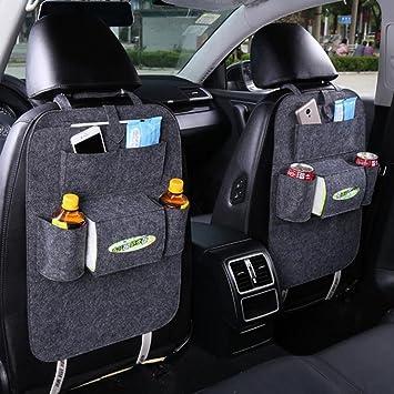 Car Back Seat Organiser with iPad Holder Storage Pockets for Tissue Drink Bottle