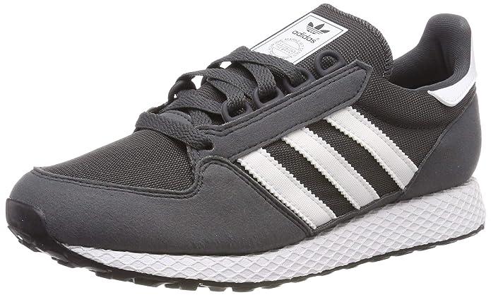 adidas Forest Grove Schuhe Damen Herren Unisex Grau (Grey Six) mit weißen Streifen