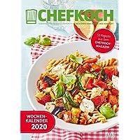 Chefkoch Wochenkalender 2020 – Küchen-Kalender mit 53 Rezepten – Format 21,0 x 29,7 cm – Spiralbindung